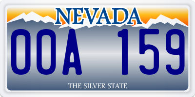 NV license plate 00A159