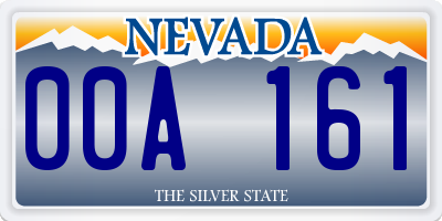 NV license plate 00A161
