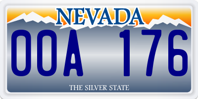 NV license plate 00A176
