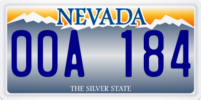 NV license plate 00A184