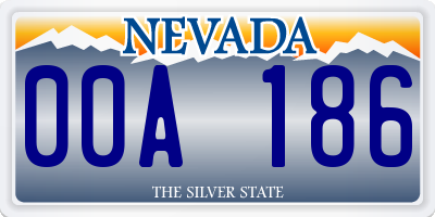 NV license plate 00A186