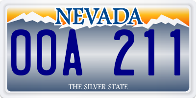 NV license plate 00A211
