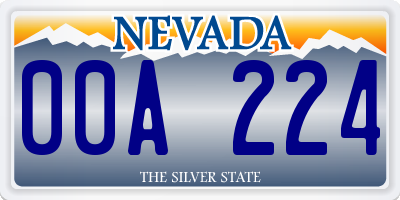 NV license plate 00A224