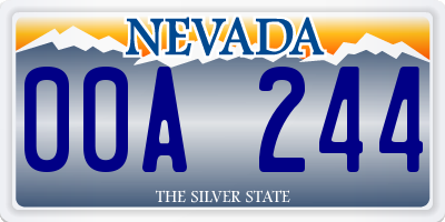 NV license plate 00A244