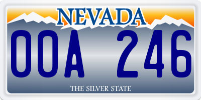NV license plate 00A246