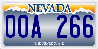 NV license plate 00A266
