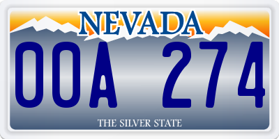 NV license plate 00A274
