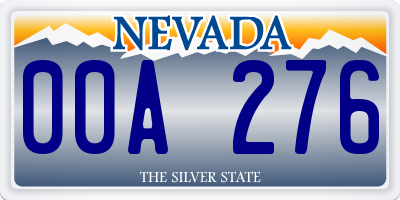 NV license plate 00A276