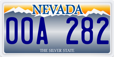 NV license plate 00A282