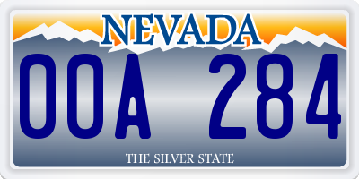 NV license plate 00A284