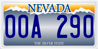 NV license plate 00A290
