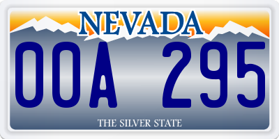 NV license plate 00A295