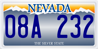 NV license plate 08A232