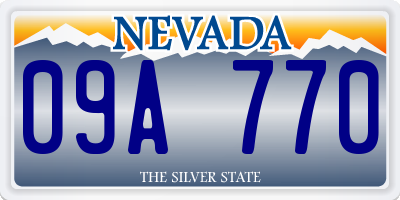 NV license plate 09A770