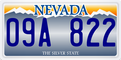 NV license plate 09A822