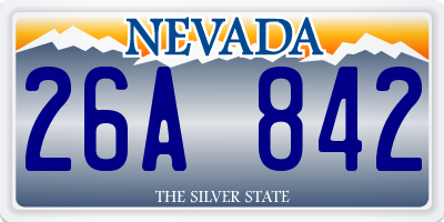 NV license plate 26A842
