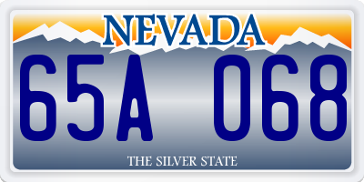NV license plate 65A068