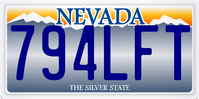 NV license plate 794LFT