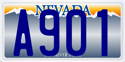 NV license plate A901