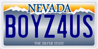 NV license plate BOYZ4US