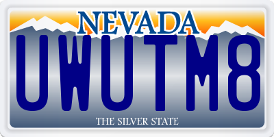 NV license plate UWUTM8