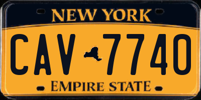 NY license plate CAV7740