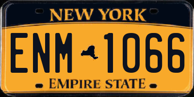 NY license plate ENM1066