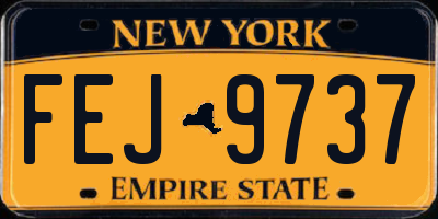 NY license plate FEJ9737