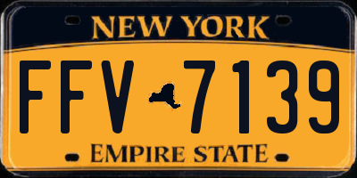 NY license plate FFV7139