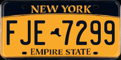 NY license plate FJE7299