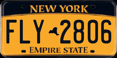NY license plate FLY2806