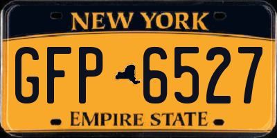 NY license plate GFP6527