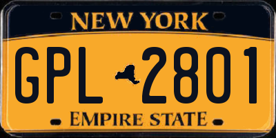 NY license plate GPL2801