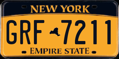 NY license plate GRF7211