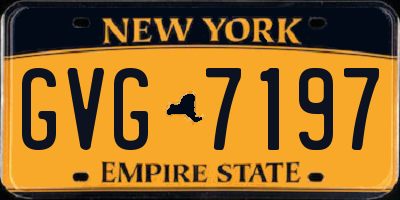 NY license plate GVG7197