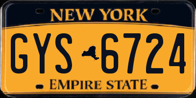 NY license plate GYS6724