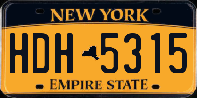 NY license plate HDH5315