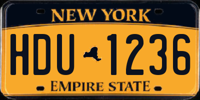 NY license plate HDU1236