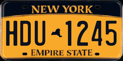 NY license plate HDU1245