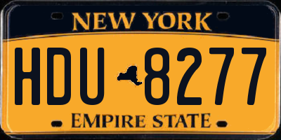 NY license plate HDU8277