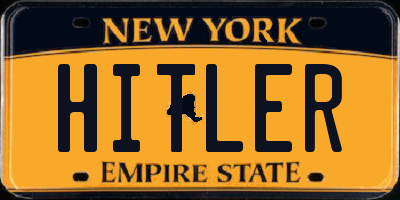 NY license plate HITLER