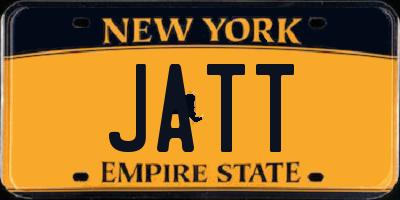 NY license plate JATT
