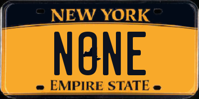 NY license plate NONE