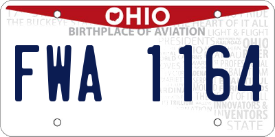 OH license plate FWA1164
