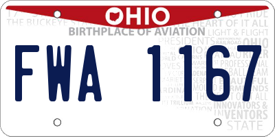 OH license plate FWA1167