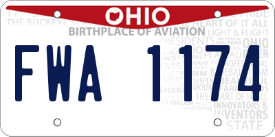 OH license plate FWA1174