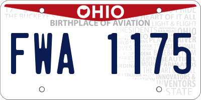 OH license plate FWA1175