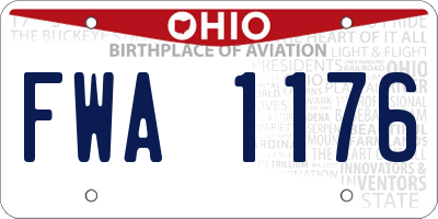 OH license plate FWA1176