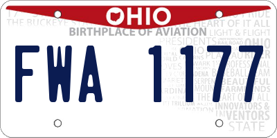 OH license plate FWA1177