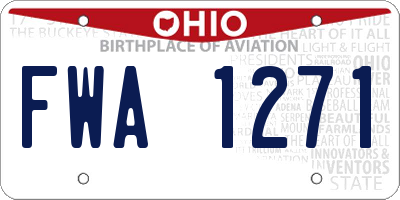 OH license plate FWA1271